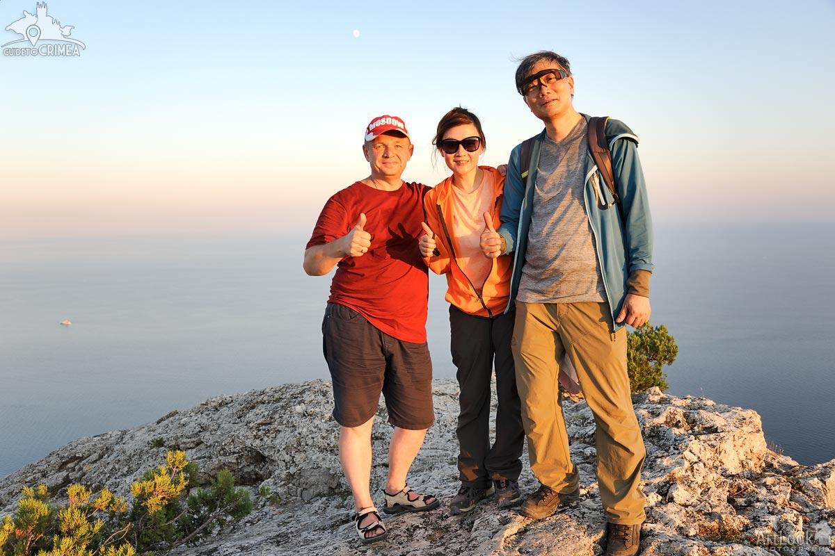 On the Peak of Sokol Mountain at Sunset