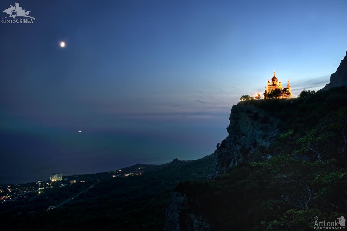 Foros Church Under Moonlight