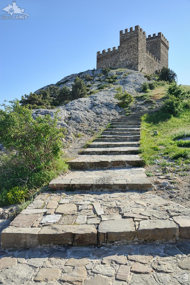 Ancient Stone Steps to the Upper Castle