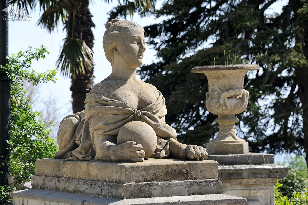 Woman-Sphinx with a Ball at Massandra Palace