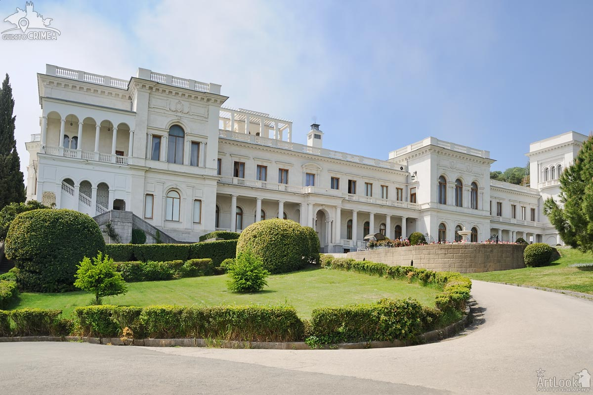 Angle View of Livadia Palace from Amazing Park