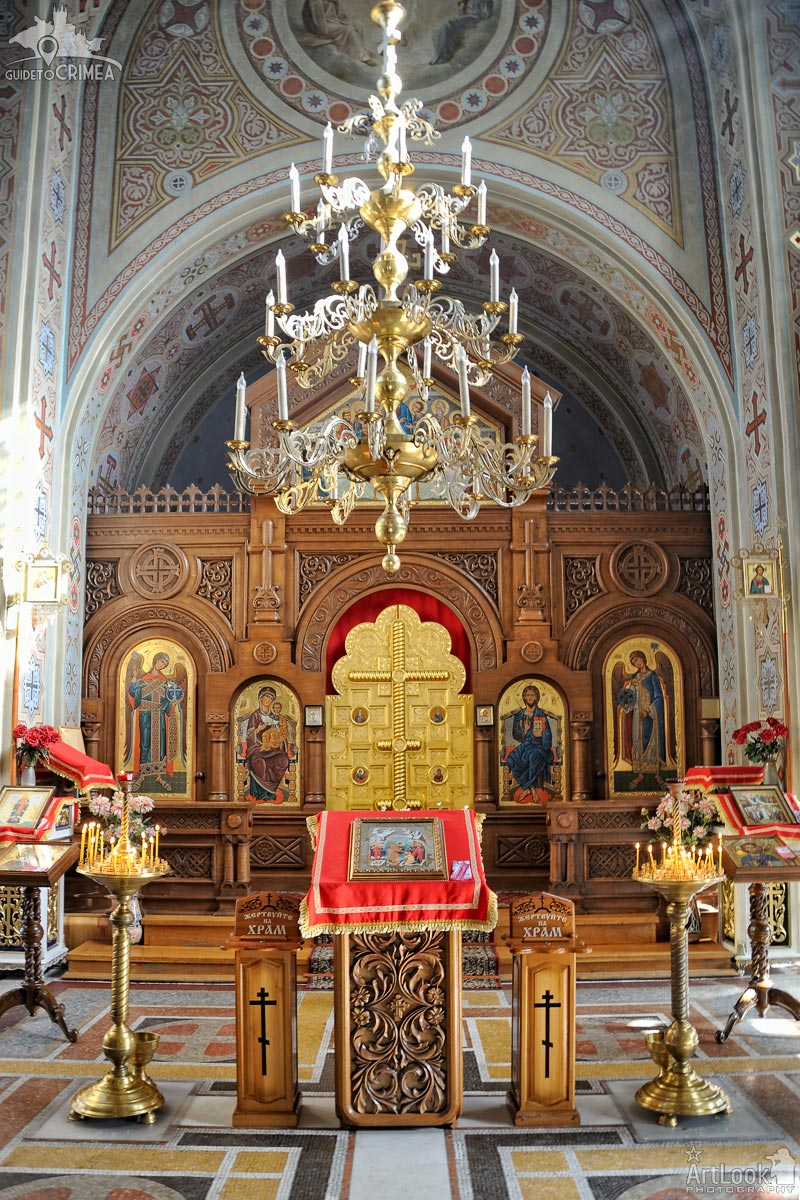 In Front of the Wooden Iconostasis of Foros Church