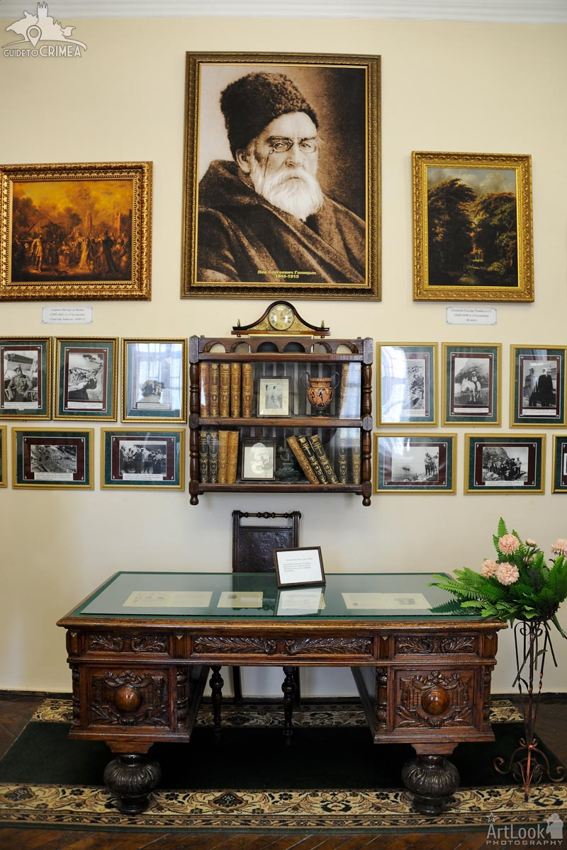 Worktable, Books, Pictures and Portrait of Lev Golitsyn