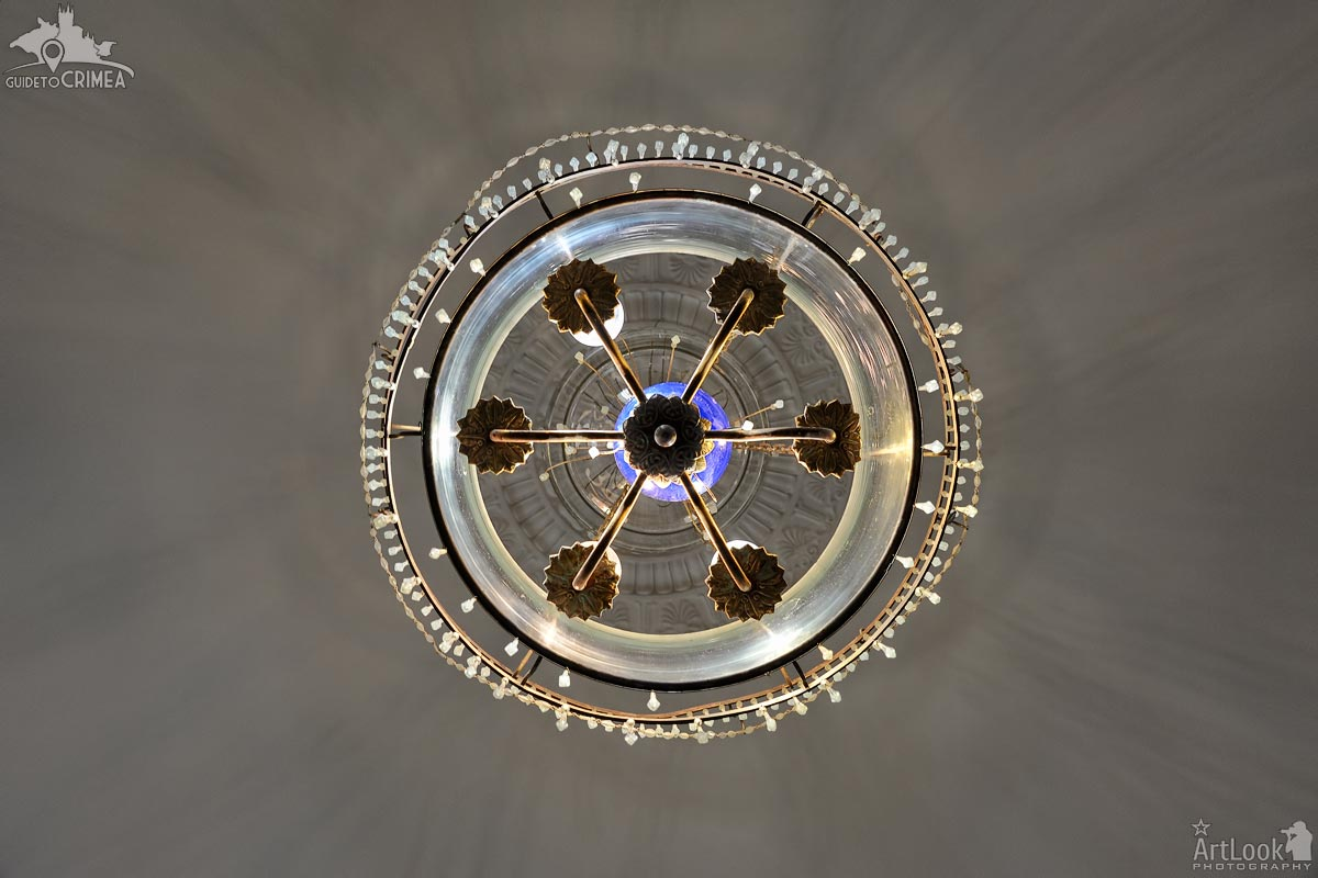 Under the Bedroom Chandelier in Livadia Palace