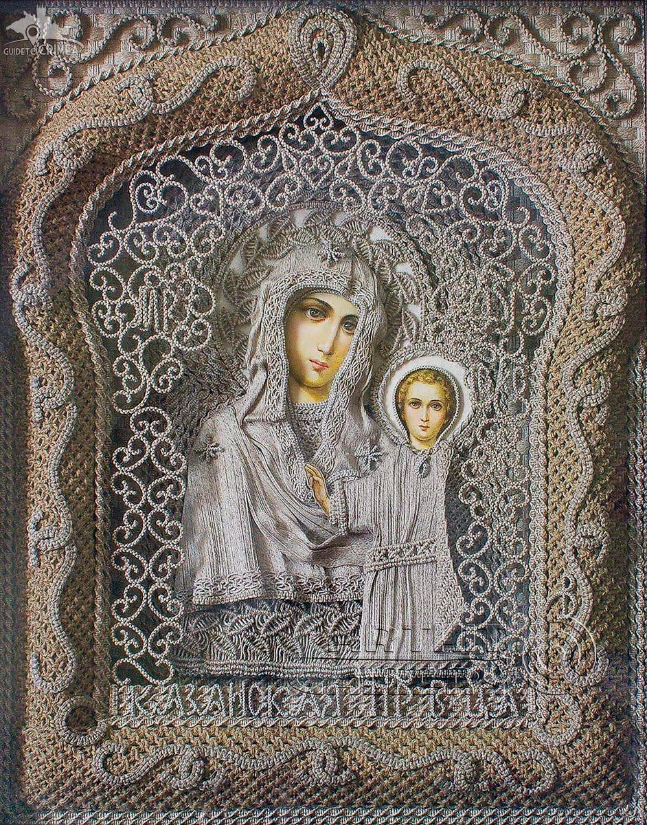 Linen Thread Icon of Our Lady of Kazan