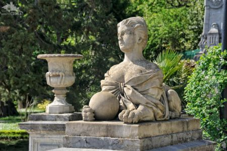 Sculpture of the Woman-Sphinx with a Ball at Massandra Palace