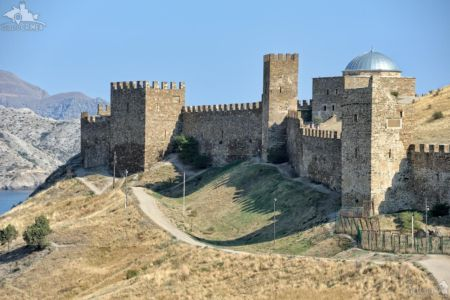 Ancient Walls and Towers of Sudak Fortress