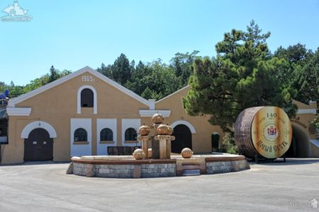 Fountain and Buildings of Novy Svet Champagne Factory