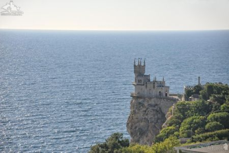 Fairytale Swallow's Nest Castle and the Black Sea , Gaspra