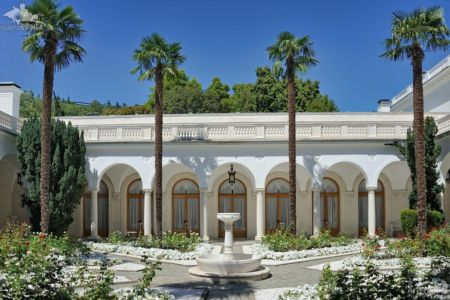 Italian Courtyard with Palms in Livadia Palace