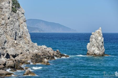 Rocks of Cape Ai-Todor and the Blue Black Sea