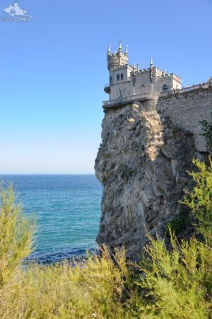 Swallow's Nest Castle Framed by Plants